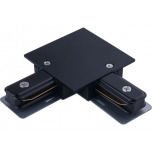 PROFILE RECESSED L-CONNECTOR BLACK T8971
