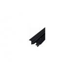 PROFILE RECESSED TRACK BLACK 2 METERS T9015